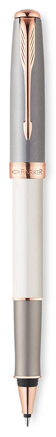 Ручка роллер Parker Sonnet T533 (1930481) Subtle Pearl & Grey F черные чернила подар.кор.