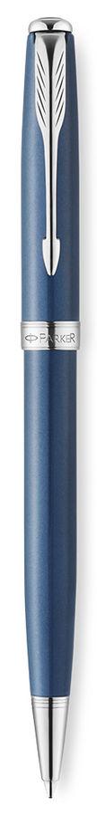 Ручка шариковая Parker Sonnet K533 (1930503) Secret Blue Shell M черные чернила подар.кор.