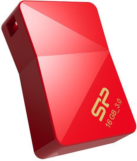 Флешка USB SILICON POWER Jewel J08 16Гб, USB3.0, красный [sp016gbuf3j08v1r]