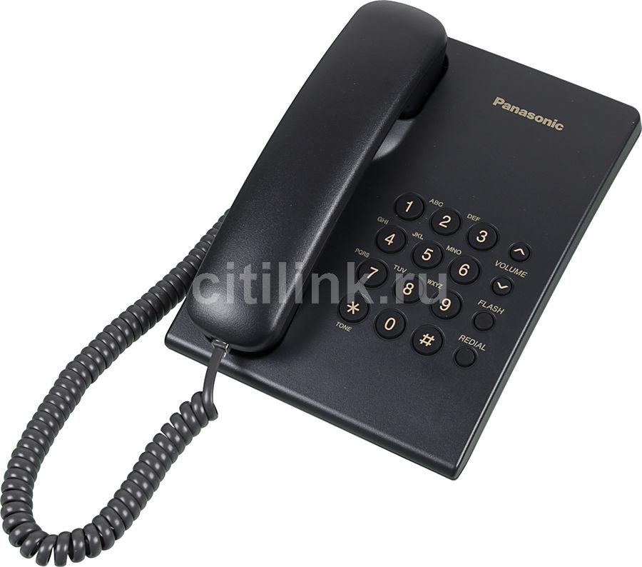 Проводной телефон PANASONIC KX-TS2350RUB, черный