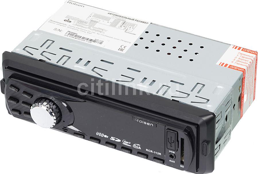 Автомагнитола ROLSEN RCR-112R,  USB,  SD/MMC