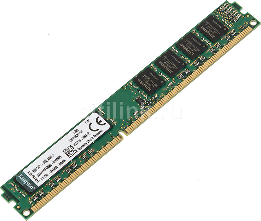 Модуль памяти KINGSTON VALUERAM KVR16LN11/8 DDR3L -  8Гб 1600, DIMM,  Ret