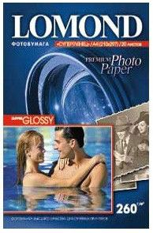 Фотобумага Lomond 1103101 A4/260г/м2/20л./белый высокоглянцевое для струйной печати