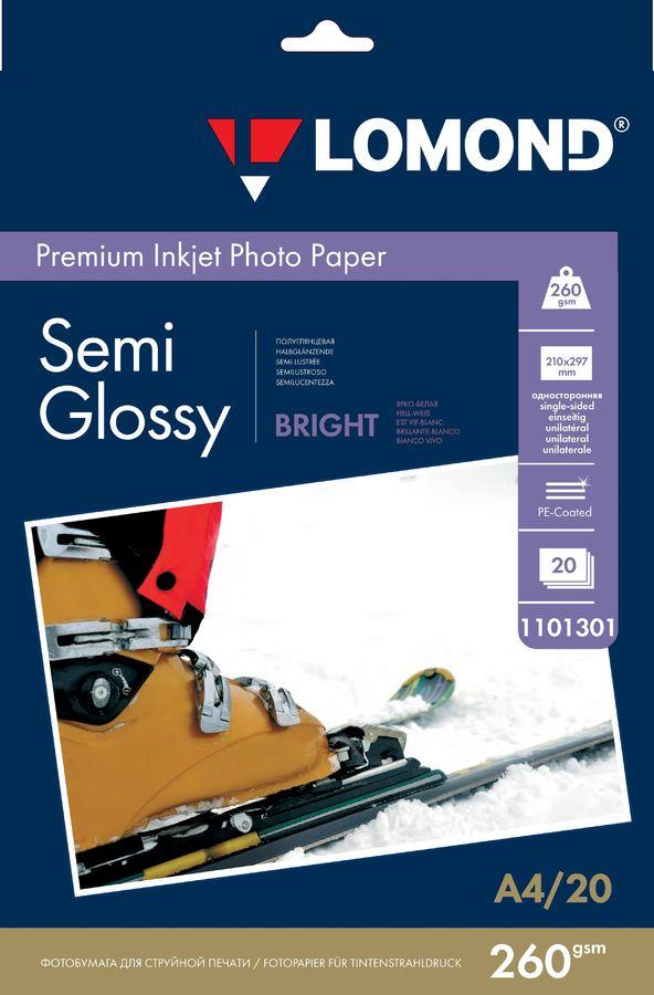 Фотобумага Lomond 1103301 A4/260г/м2/20л./белый полуглянцевое для струйной печати