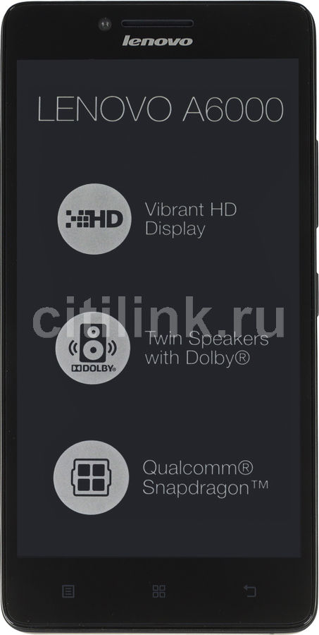 Смартфон LENOVO A6000  8Gb, черный