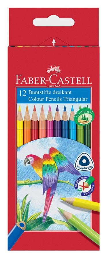 Карандаши цветные Faber-Castell D75 116512 трехгран. 12цв. карт.кор.