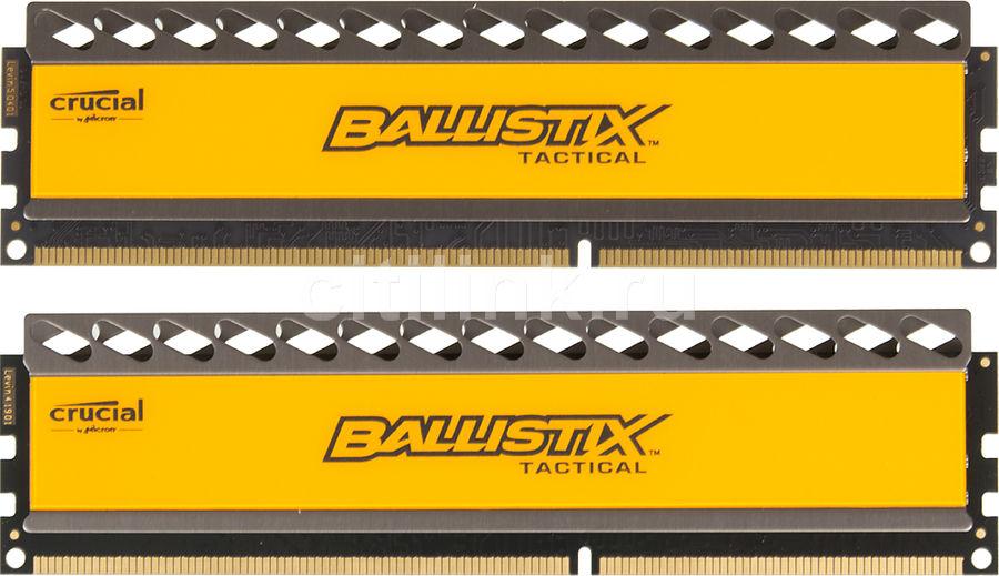 Модуль памяти CRUCIAL Ballistix Tactical BLT2CP8G3D1608DT1TX0CEU DDR3 -  2x 8Гб 1600, DIMM,  Ret