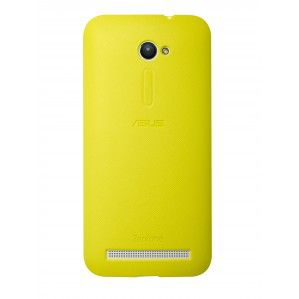 Чехол (клип-кейс) ASUS PF-01, для Asus ZenFone ZE500CL, желтый [90xb00ra-bsl2t0]
