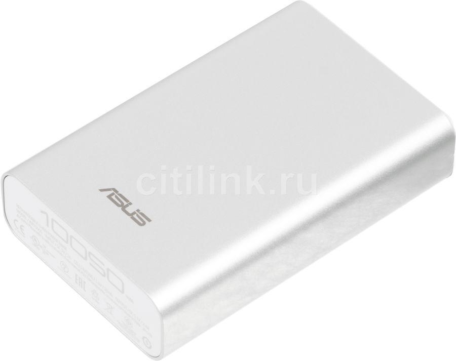 Внешний аккумулятор ASUS ZenPower ABTU005,  10050мAч,  серебристый [90ac00p0-bbt027]