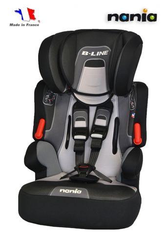 Автокресло детское NANIA Beline SP PL (melbourne black), 1/2/3, черный/серый [583066]