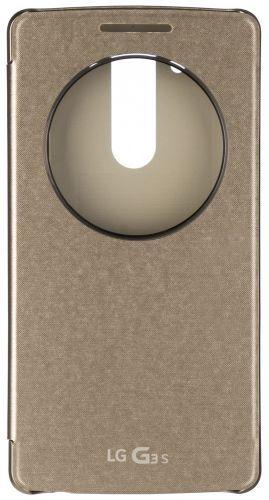 Чехол (флип-кейс) LG Quick Circle, для LG G3s, золотистый [ccf-490g.agragd]
