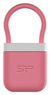Флешка USB SILICON POWER Unique 510 16Гб, USB2.0, розовый и белый [sp016gbuf2510v1p]