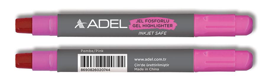 Текстовыделитель Adel 420-1860-019 розовый