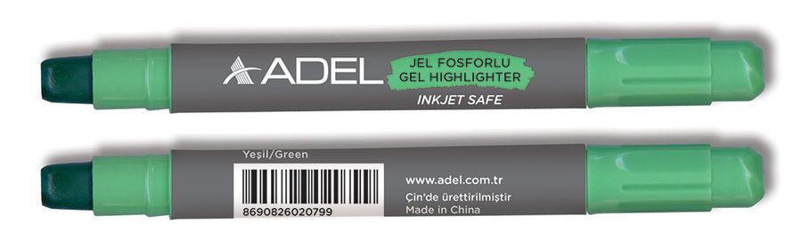 Текстовыделитель Adel 420-1860-067 механический гелевый зеленый