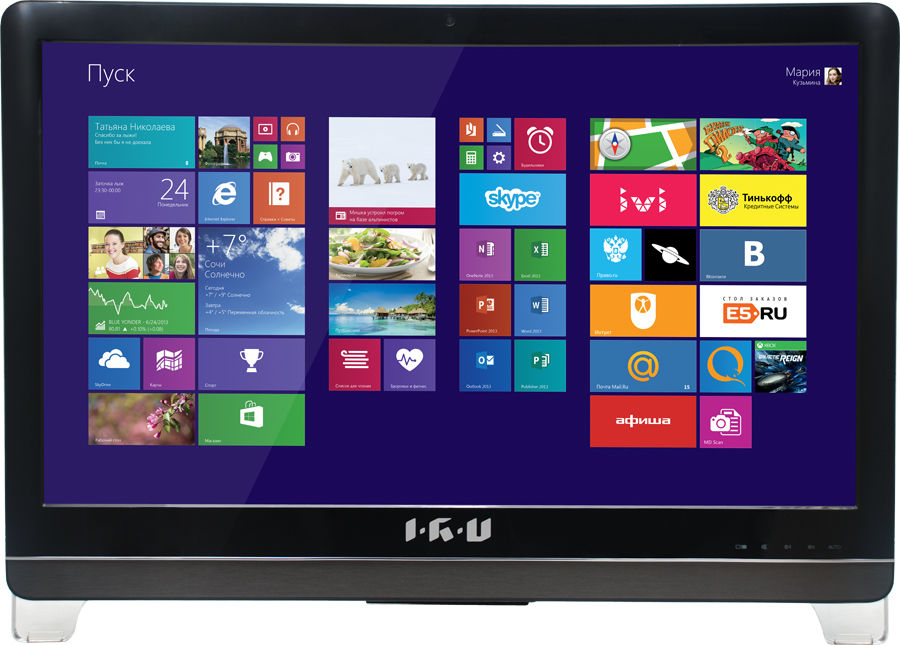 Моноблок IRU Home T2304, Intel Pentium G3240, 4Гб, 500Гб, nVIDIA GeForce GT840M - 2048 Мб, DVD-RW, Free DOS, черный [296045]