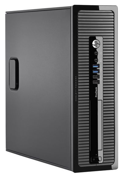 Компьютер  HP ProDesk 400 G1,  Intel  Core i3  4160,  DDR3 4Гб, 500Гб,  Intel HD Graphics 4400,  DVD-RW,  Windows 7 Professional,  черный [l3e40ea]