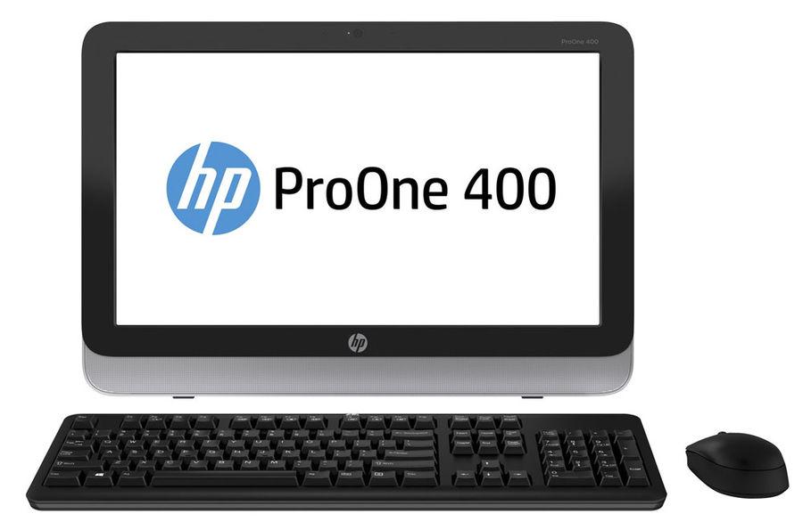 Моноблок HP ProOne 400 G1, Intel Celeron G1840T, 4Гб, 500Гб, Intel HD Graphics, DVD-RW, Free DOS, черный и серебристый [l3e65ea]