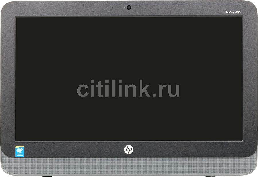 Моноблок HP ProOne 400 G1, Intel Core i3 4160T, 4Гб, 1000Гб, Intel HD Graphics 4400, DVD-RW, Free DOS, черный и серебристый [l3e77ea]