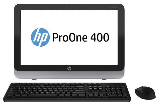 Моноблок HP ProOne 400 G1, Intel Core i3 4160T, 4Гб, 1000Гб, Intel HD Graphics 4400, DVD-RW, Windows 7 Professional, черный и серебристый [l3e59ea]