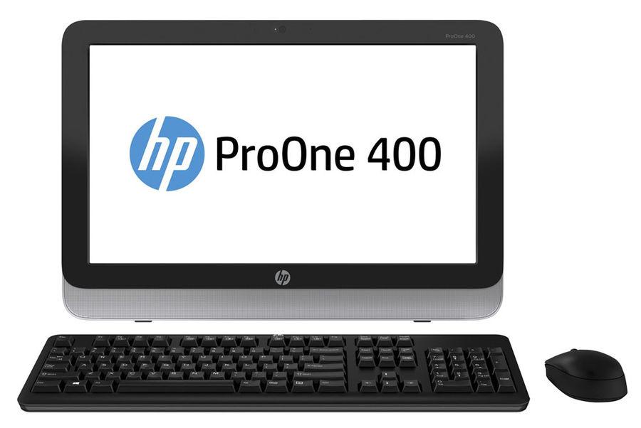 Моноблок HP ProOne 400 G1, Intel Core i5 4590T, 4Гб, 1000Гб, Intel HD Graphics 4600, DVD-RW, Free DOS, черный и серебристый [l3e79ea]