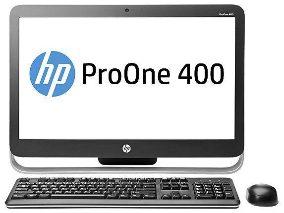 Моноблок HP ProOne 400 G1, Intel Pentium G3250t, 4Гб, 500Гб, Intel HD Graphics, DVD-RW, Free DOS, черный и серебристый [m3w40ea]