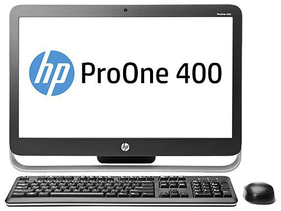 Моноблок HP ProOne 400 G1, Intel Core i3 4160T, 4Гб, 500Гб, Intel HD Graphics 4400, DVD-RW, Windows 7 Professional, черный и серебристый [l3e49ea]