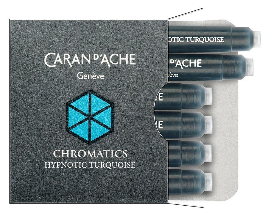Картридж Carandache Chromatics (8021.191) Hypnotic turquoise чернила для ручек перьевых (6шт)