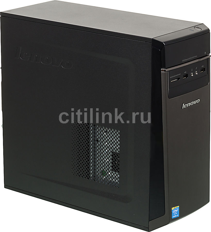 Компьютер  LENOVO IdeaCentre H50-50,  Intel  Core i3  4160,  DDR3 4Гб, 1000Гб,  nVIDIA GeForce GT730 - 2048 Мб,  DVD-RW,  CR,  Windows 8.1,  черный [90b700bqrs]
