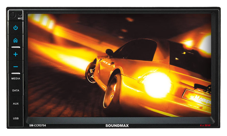 Автомагнитола SOUNDMAX SM-CCR3704,  USB,  microSD