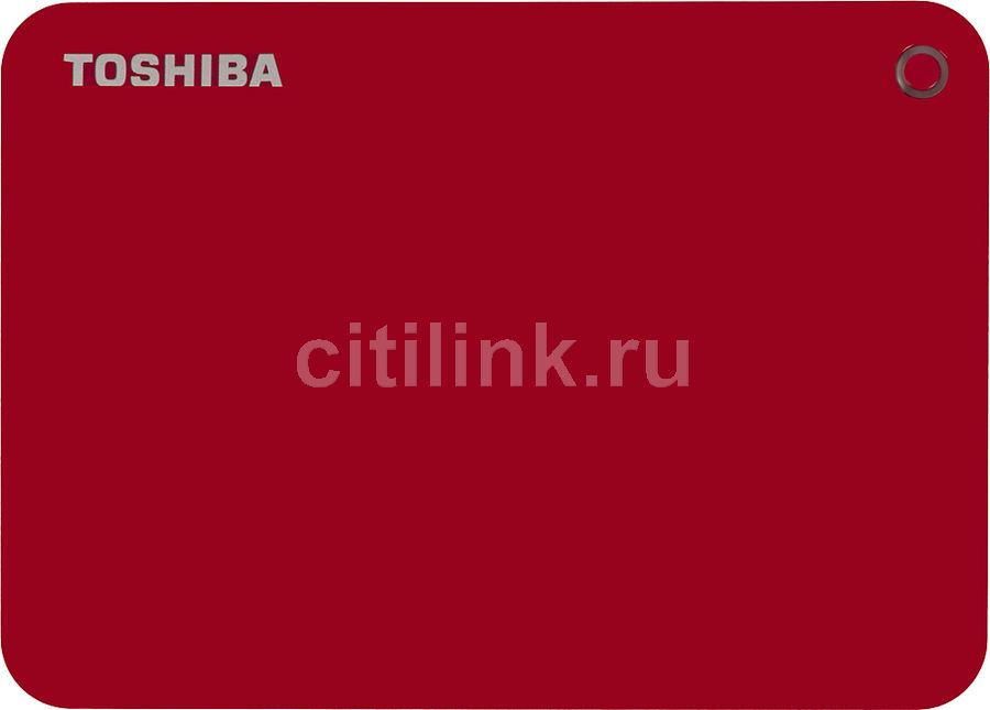 Внешний жесткий диск TOSHIBA Canvio Connect II HDTC820ER3CA, 2Тб, красный