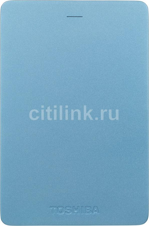 Внешний жесткий диск TOSHIBA Canvio Alu HDTH305EL3AA, 500Гб, голубой