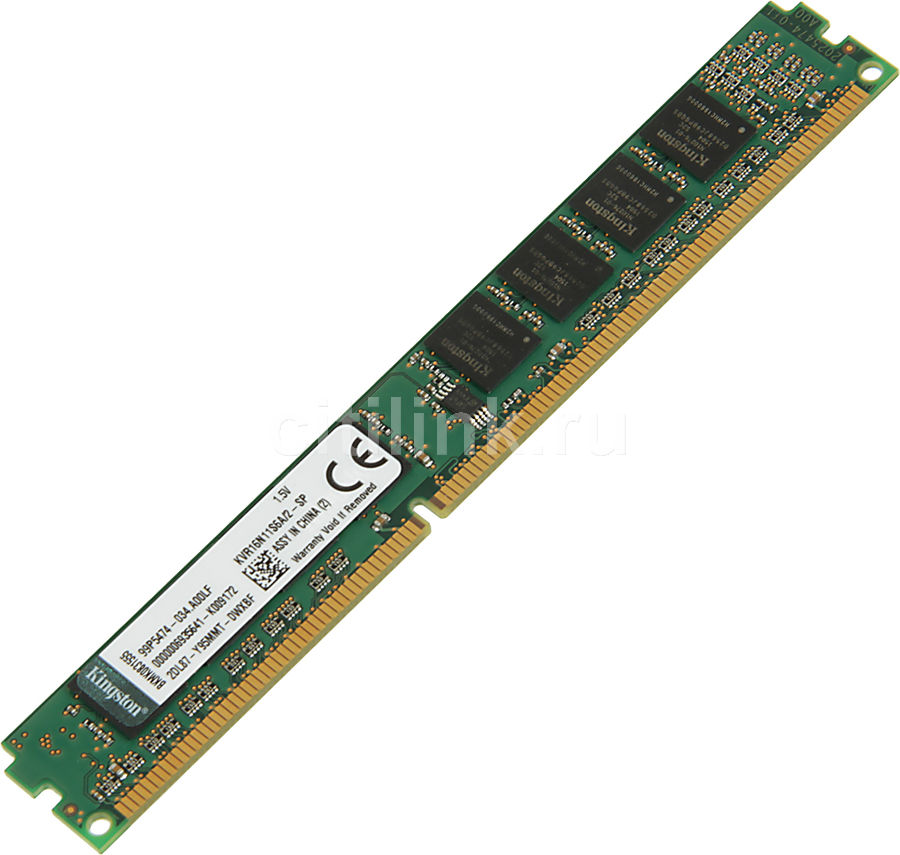 Модуль памяти KINGSTON VALUERAM KVR16N11S6A/2-SP DDR3 -  2Гб 1600, DIMM,  OEM,  низкопрофильная