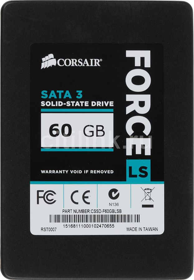 SSD накопитель CORSAIR Force LS CSSD-F60GBLSB 60Гб, 2.5, SATA III