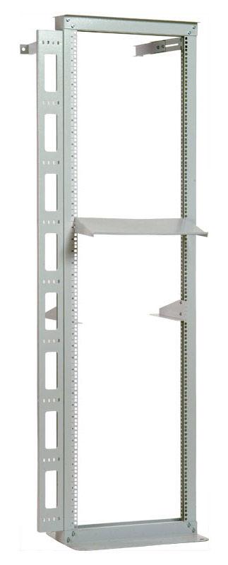 Стойка однорамная ЦМО (СТК-К-42) 42U 560ммX360мм направл.закл.гайки 170кг серый
