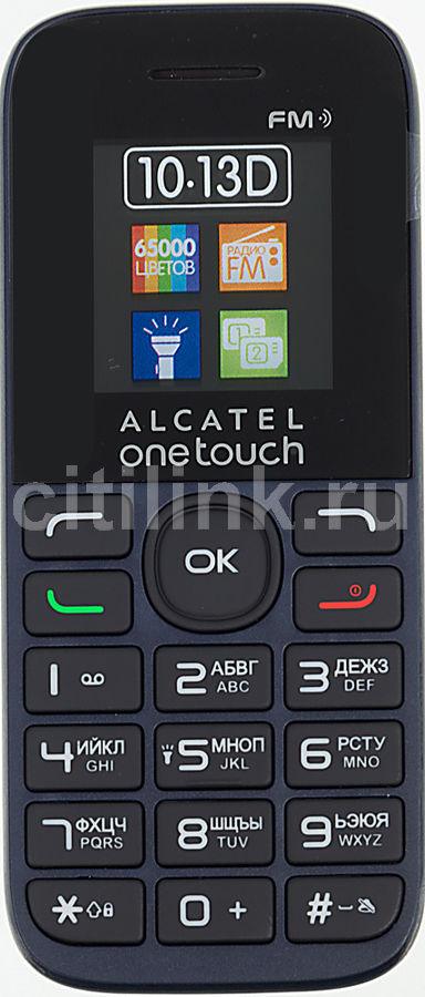 Мобильный телефон ALCATEL 1013D  черный