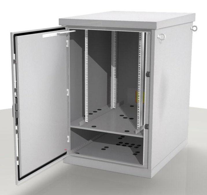 Шкаф серверный ЦМО (ШТВ-1-24.8.10-4ААА) 24U 800x1000мм пер.дв.перфор. 2 бок.пан. 500кг серый