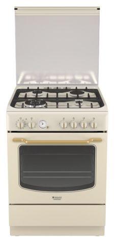 Газовая плита HOTPOINT-ARISTON HT6TM4AF C (OW) EA,  электрическая духовка,  слоновая кость