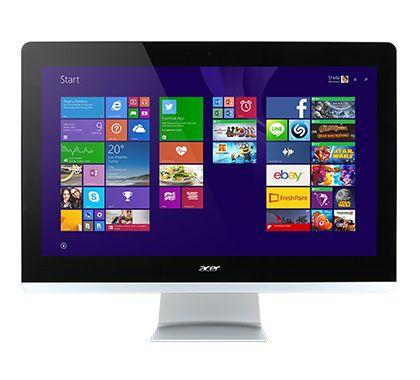Моноблок ACER Aspire Z3-710, Intel Core i3 4170t, 4Гб, 1000Гб, Intel HD Graphics 4400, DVD-RW, Windows 8.1, черный и серебристый [dq.b05er.001]
