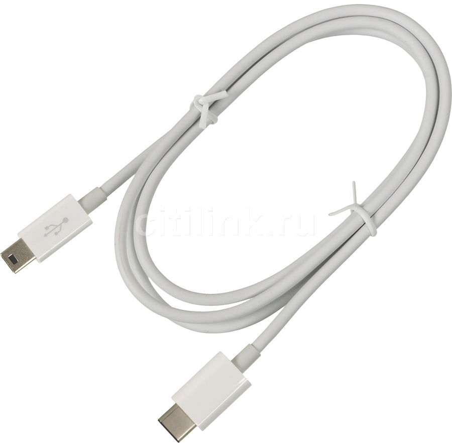 Кабель USB2.0 BELKIN F2CU027DS1M-WHT,  USB Type-C -  mini USB B (m),  1м,  белый