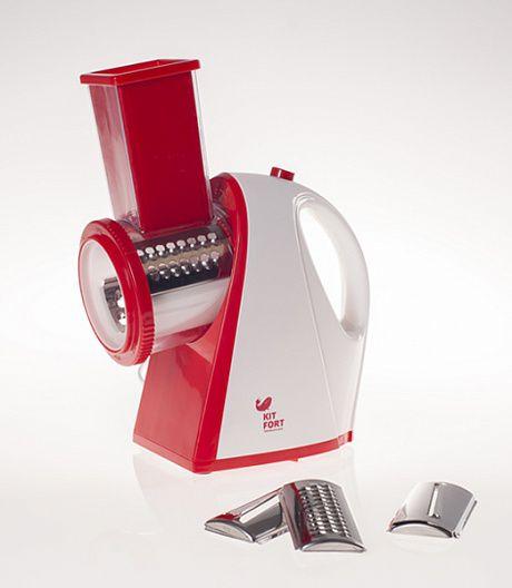 Измельчитель электрический Kitfort КТ-1304-1 150Вт белый/красный