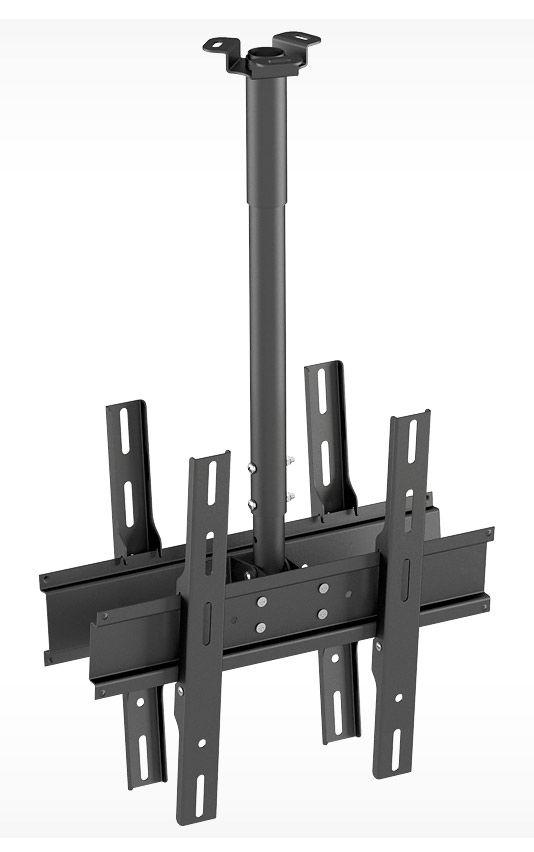 """Кронштейн для телевизора Holder PR-102-B черный 32""""-65"""" макс.90кг потолочный фиксированный"""