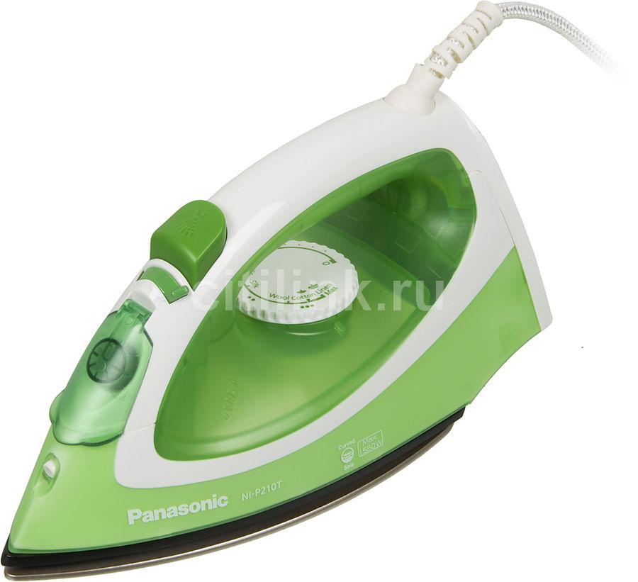 Утюг PANASONIC NI-P210TGTW,  1550Вт,  зеленый/ белый