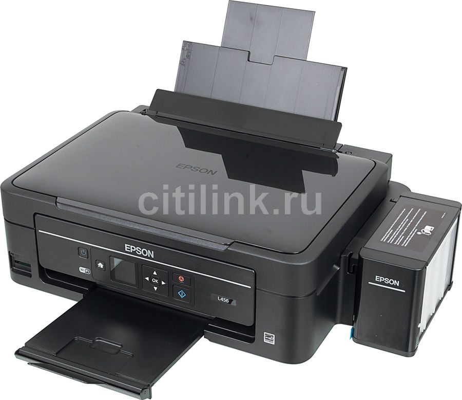 МФУ EPSON L456, A4, цветной, струйный, черный [c11ce24402]