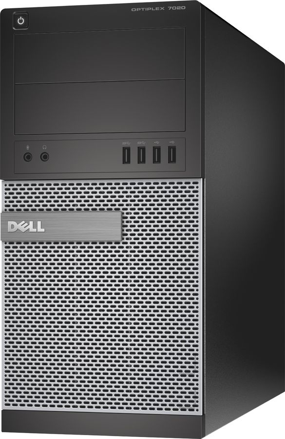 Компьютер  DELL Optiplex 7020,  Intel  Core i3  4160,  DDR3 4Гб, 500Гб,  Intel HD Graphics 4400,  DVD-RW,  Windows 7 Professional,  черный и серебристый [7020-6903]