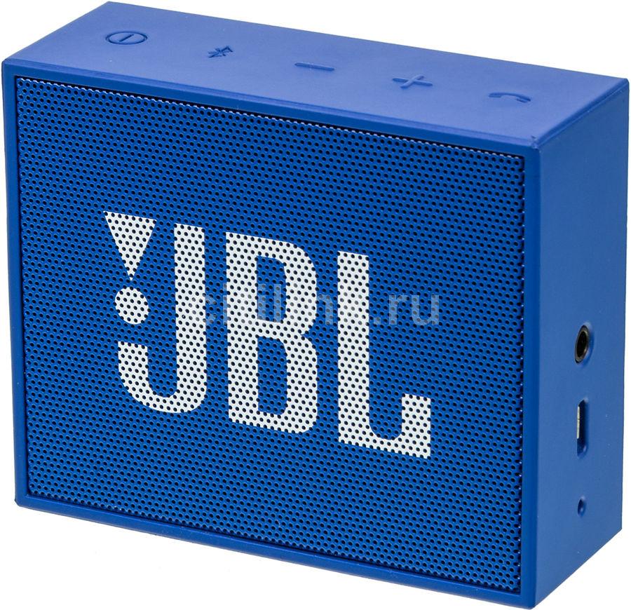 Портативная колонка JBL GO,  3Вт, синий  [jblgoblue]