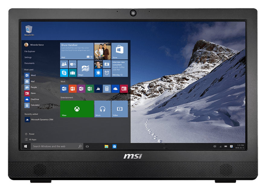 Моноблок MSI Pro 24 2M-006RU, Intel Core i5 4460, 4Гб, 1000Гб, Intel HD Graphics 4600, DVD-RW, Free DOS, черный [9s6-ae9111-006]