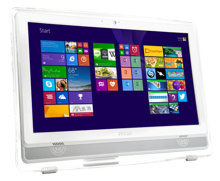 "Моноблок MSI AE220 5M-067RU 21.5"" Full HD E2 6110/4Gb/500Gb/DVDRW/CR/W8.1/kb/m/белый 1920x1080 [9s6-ac1512-067]"
