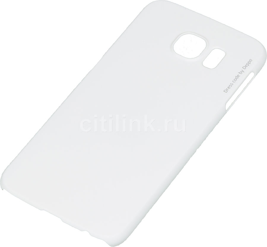 Чехол (клип-кейс) DEPPA Air Case, для Samsung Galaxy S6, белый [83174]