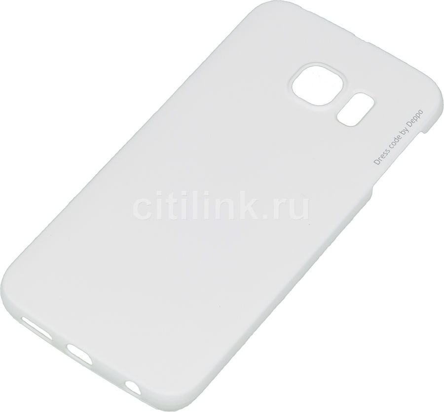 Чехол (клип-кейс) DEPPA Air Case, для Samsung Galaxy S6 Edge, белый [83182]