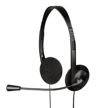 Наушники с микрофоном HAMA HS-101,  накладные, черный  [00053971]